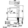 Vòi lavabo COTTOCT2202AY nóng lạnh thân cao