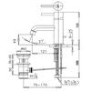 Vòi lavabo COTTOCT542A nóng lạnh