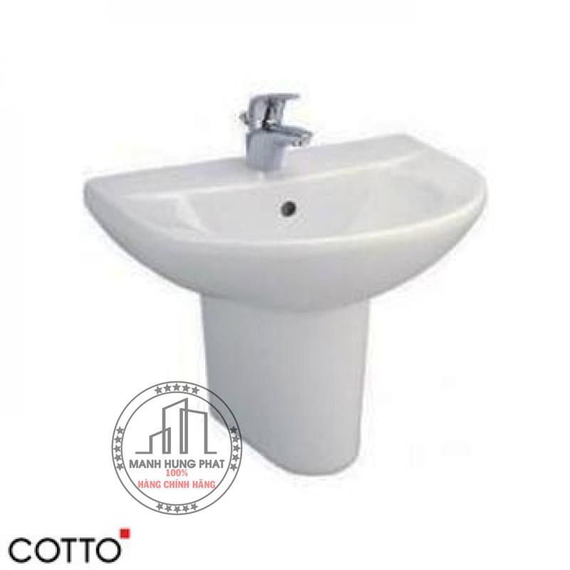 Chậu lavabo CottoC014/C4201 chân ngắn Wendy