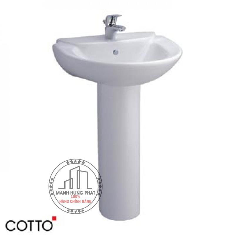 Chậu lavabo CottoC0237/C411 chân dài Sasha
