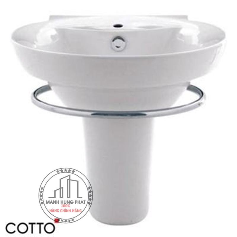 Chậu lavabo CottoC0285/C4201 chân ngắn