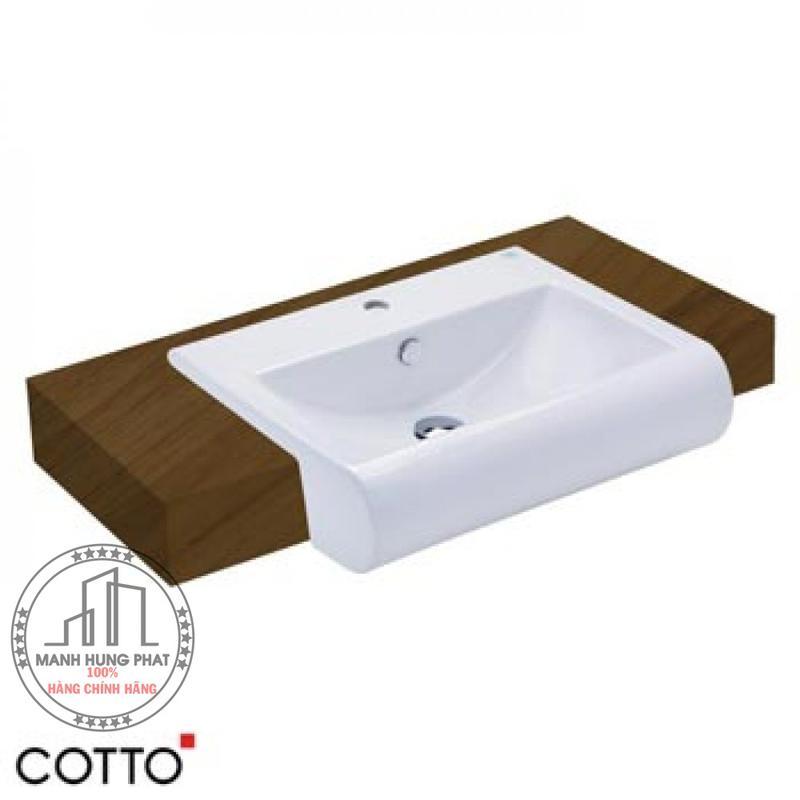 Chậu lavabo CottoC02237 bán âm bàn Riviera