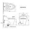 Bồn cầu 1 khối TOTO CW823NW/FE2 nắp rửa cơ