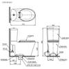 Bồn cầu 2 khối TOTO CS819DSE2 nắp rửa cơ