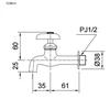 Vòi gắn tườngTOTO T23B13