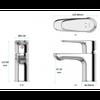 Vòi chậu lavabo INAX LFV-112S nóng lạnh