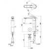 Vòi chậu Lavabo TOTO  TLP03301A1 nóng lạnh cổ cao