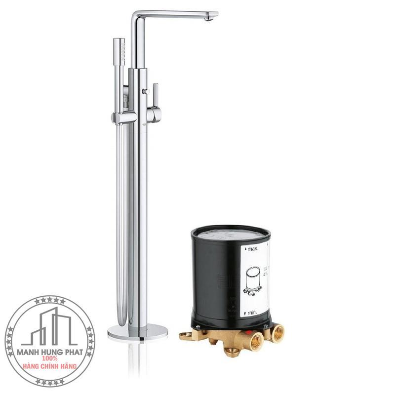 Vòi bồn tắm Grohe 23792001 + 29086000 đặt sàn Lineare