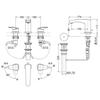 Vòi chậu Lavabo TOTO TLG09201B nóng lạnh 3 lỗ