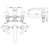 Vòi xả bồn tắm TOTO TBG09201B 3 lỗ GM