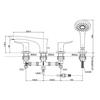 Vòi xả bồn tắm TOTO TBG01202B nóng lạnh 4 lỗ