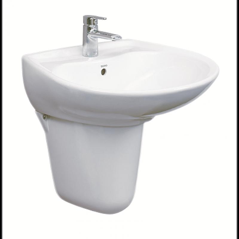 Chậu lavabo TOTO LHT300CR treo tường chân ngắn